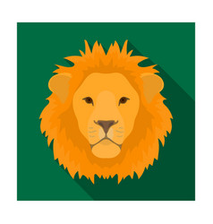 lion icon in flat style isolated on white vector image vector image