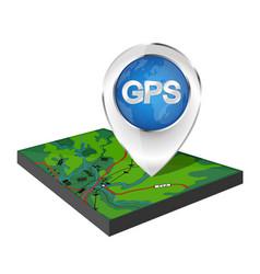 map navigation marker vector image