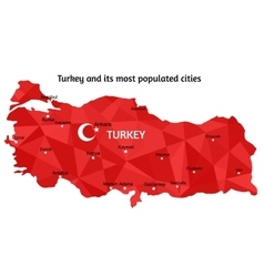 Map of turkey vector
