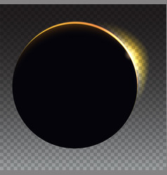 Minimalist with a flare to the right solar eclipse vector