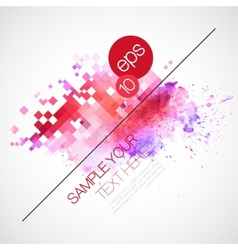 Modern background with watercolor blot vector image vector image