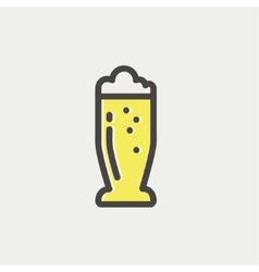 Mug of beer thin line icon vector image