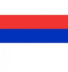 republican Srpska flag vector image vector image