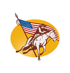 Rodeo cowboy horse riding vector