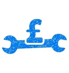 Service pound cost grainy texture icon vector