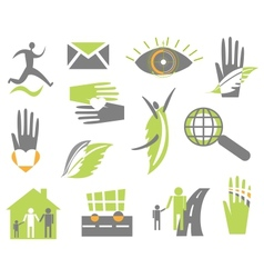 Set creative icon vector image vector image