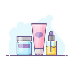 set of skin care bottles vector image vector image