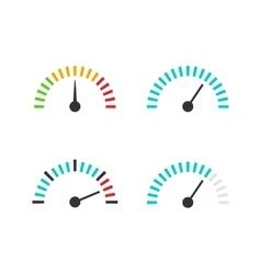 Speedometer icon set speed vector