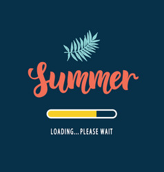 summer loading please wait vector image