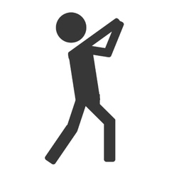 Throwing person icon sport vector