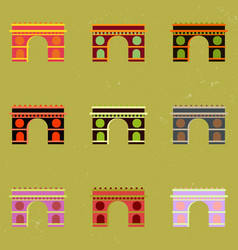 Triumphal arch architecture collection vector