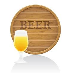 wooden barrel 04 vector image vector image
