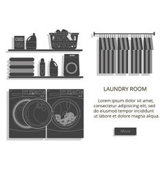 Loundry room vector