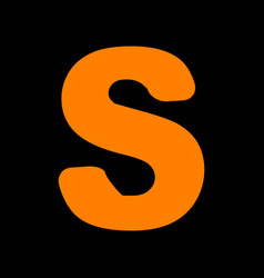 letter s sign design template element orange icon vector image