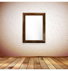 Wooden rectangular 3d photo frame eps 10 vector