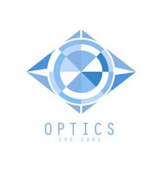Optics logo symbol vector