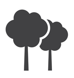 Forest solid icon travel and nature vector