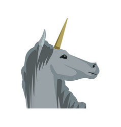 Unicorn legendary mythical creature horned vector