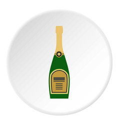 Champagne icon circle vector