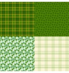 Saint Patricks Day seamless patterns vector image