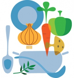 Cooking and vegetables vector
