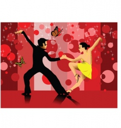 dance cartoon vector image