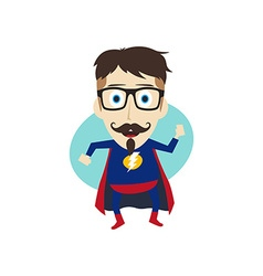 Superhero cartoon vector
