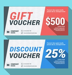 Gift and discount voucher design print template vector