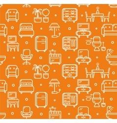 Furniture background pattern vector