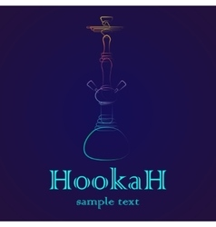 Hookah outline gradient vector