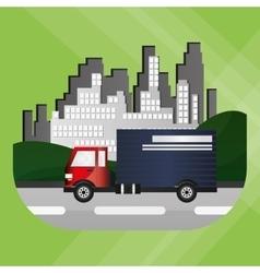Truck graphic design  editable graphic vector