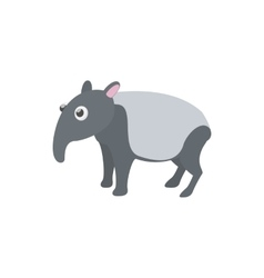 Tapir icon in cartoon style vector
