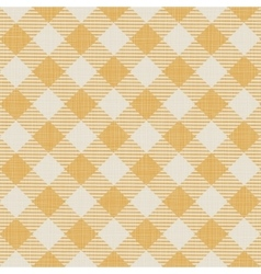Seamless texture of yellow plaid vector