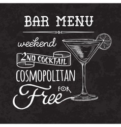 Bar menu of cocktail proposal vector