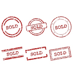 Sold stamps vector image