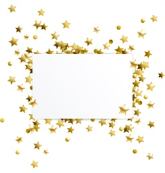 Banner with Gold Confetti Stars vector image
