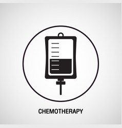 chemotherapy medical logo icon design vector image