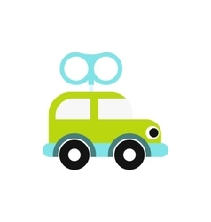 Clockwork toy car icon vector