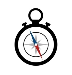 Compass maritime device icon vector