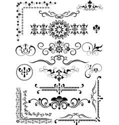 Corner and border and details of decoration vector