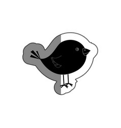 Cute little bird icon vector