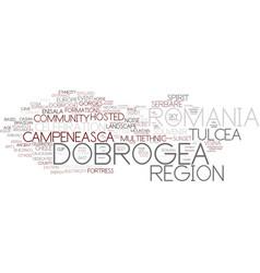 Dobrogea word cloud concept vector