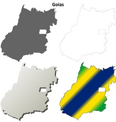 Goias blank outline map set vector image vector image