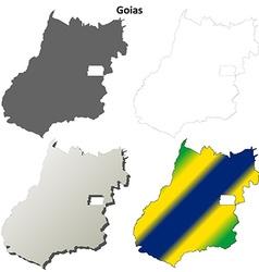 Goias blank outline map set vector