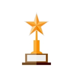gold star award vector image vector image