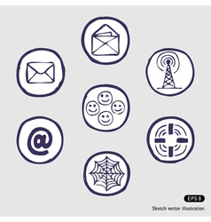 Internet devices icon set vector image vector image