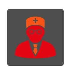 Main physician flat button vector