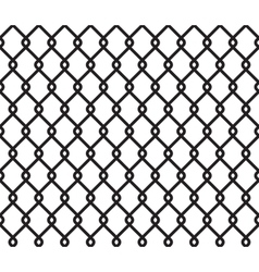 Metallic wired fence seamless pattern vector image