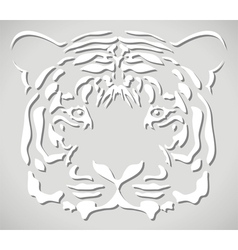 Paper tiger head vector