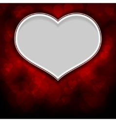 Red background with white heart vector